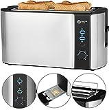 Balter Toaster 4 Scheiben Langschlitz ✓ Brötchenaufsatz ✓ Auftaufunktion ✓ Brotzentrierung ✓ Krümelschublade ✓ Edelstahlgehäuse ✓ Farbe: Silber