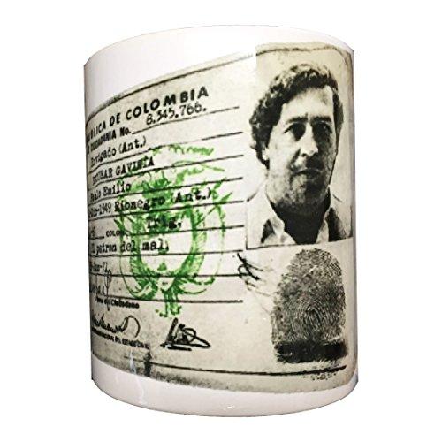 HIRAM Skynet-Taza con foto con imagen del documento de identidad de Pablo Escobar Gaviria (serie Narcos)