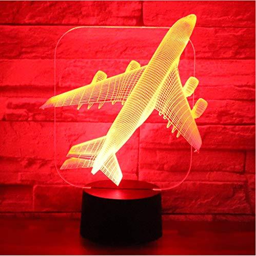 luanxiaonie Optische Täuschung 3D Led Nachtlicht Flugzeug Bomber Mit 7 Farben Licht Für Home Decoration Lampe Amazing Visualization Optical Illusion Awesome -