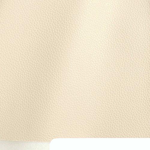 TOLKO Kunstleder Meterware als Robuster Premium Bezugsstoff zum Nähen für Sitzbezüge, 140cm Breit (Elfenbein)