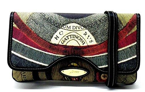 Gattinoni Borsa Donna Pochette Clutch Bag Cm 30x13x3 Multicolor