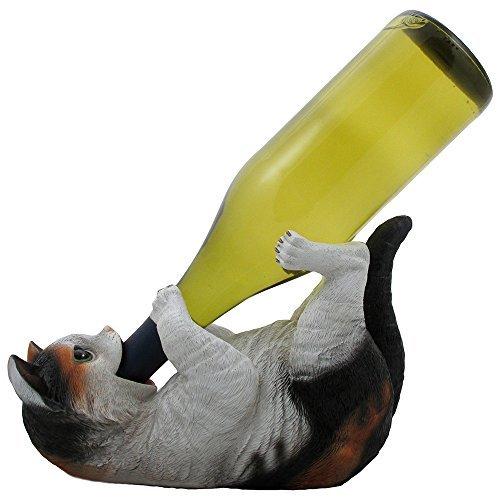 Home-n-Gifts Weinflaschenhalter Calico Kitty Cat für dekorative Tischplatte Weinständer und...