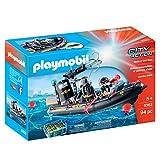Playmobil City Action 9362 Gommone Unità Speciale Galleggiante, dai 5 Anni