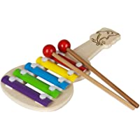 CraftExpertise Kids Wood Guitar Xylophone Musical Toy (Multicolor)