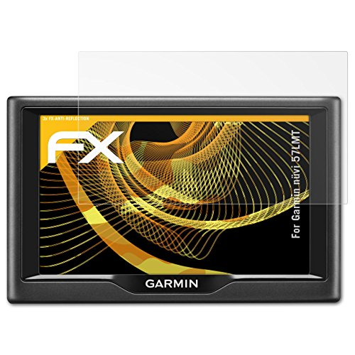 Garmin nüvi 57LMT Displayschutzfolie - 3 x atFoliX FX-Antireflex blendfreie Folie Schutzfolie