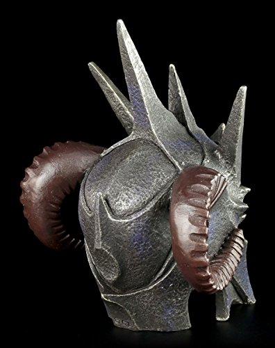 Dämonen Helm – Dunkler Lord – Totenkopf Figur Schädel Hörner - 5