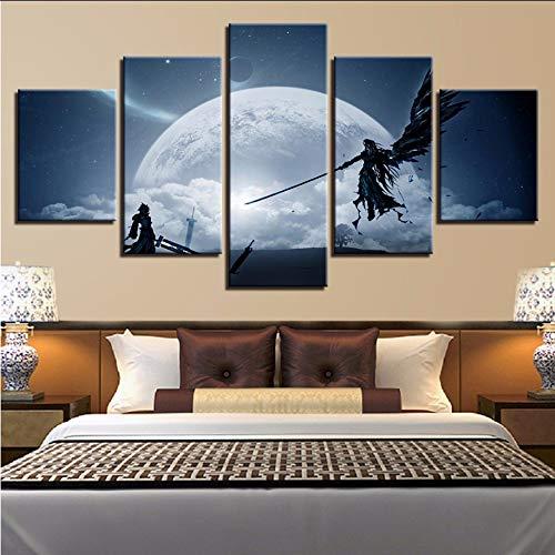 Wiwhy Wand Hd Gedruckt Bilder 5 Stück Fantasie Landschaft Home Decor Rahmen Kunst Malerei Modulare Leinwand Poster Wohnzimmer,10X15/20/25Cmwiwhy