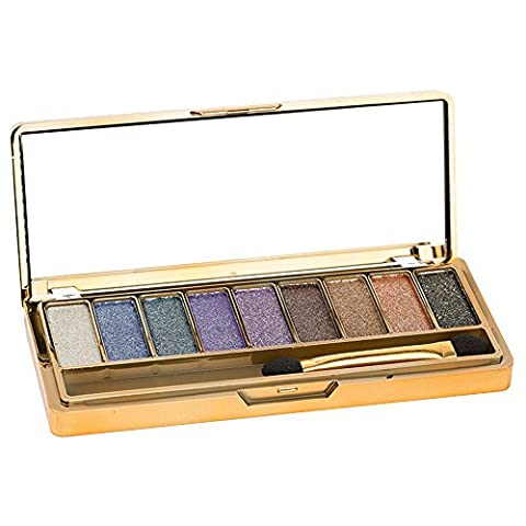 Contever® 9 Colour Portable Cosmetics Shimmer Eyeshadow Palette Make Up Box with Mirror No.4060