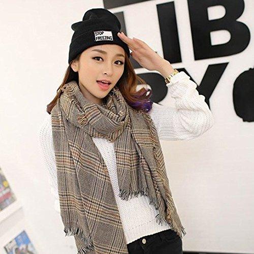 Plaid Flash foulard avec Yang en automne et hiver, le Royaume-Uni a augmenté épaississement de petit châle brun lattice pour garder au chaud 200cm