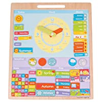 Bigjigs Toys Educational Wooden Magnetic Weather Board