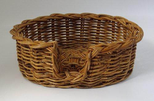 PnH® Quality Rattan Wicker Dog Basket - Small (59cm)