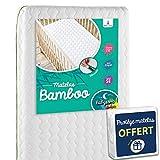 Babysom - Matelas Bébé Bamboo + 1 Protège matelas Imperméable OFFERT - 60x120cm -...