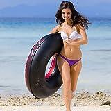 XYHLM Schwimmen Ring, Dicke Männer und Frauen Erwachsene Schwimmring Fett Mann Aufblasbare Lebensretter Float Griff Surf Sitz, Gewicht: 180 Kg
