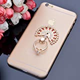 A Z Link Peacock Round Shape 360 degree Rotated Universal Finger Ring Stand Bracket Buckle Mobile Phone Holder For iPhone, iPad Mini, Samsung,HTC, Len