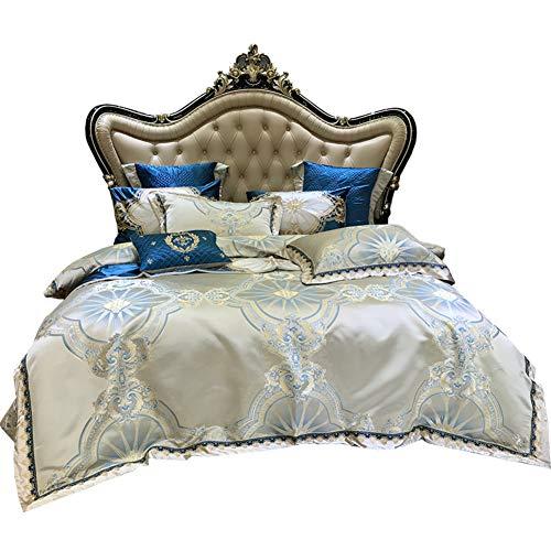 JR%L Betten Gedruckt Bettwäsche Cover Sets, 10 Stück Luxuriös Königin König Tröster Weich Gemütlich Maschine Waschbar-a King (10 Stück Bettwäsche-sets Königin)