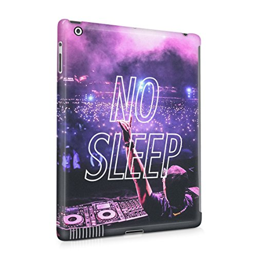 No Sleep Rave Queen DJ Neon Festival EDM Rattle Groovy Dünne Rückschale aus Hartplastik für iPad 2 & iPad 3 & iPad 4 Tablet Hülle Schutzhülle Slim Fit Case Cover (Groovy Party Supplies)