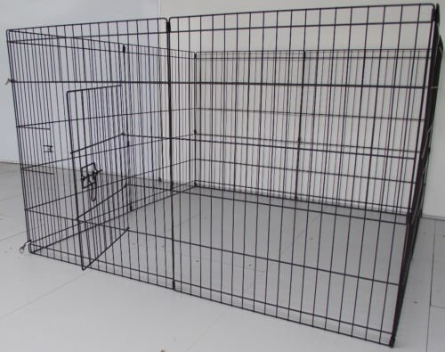 BUNNY BUSINESS 8 Panel Playpen Suitable for Rabbits/Guineas/Dogs and Cats, Small, Black 3