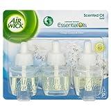 Air Wick Plug in Refill Air Freshener Crisp Linen & Lilac, 3x 17ml