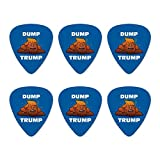 Dump Donald Trump mit Poop Neuheit Gitarre Plektrum Plektron Picks Stärke Medium – Set of 6