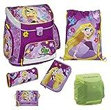 Disney Princess Rapunzel Prinzessin Schulranzen Set 6tlg. mit Federmappe gefüllt Scooli Campus Up RAVT8252