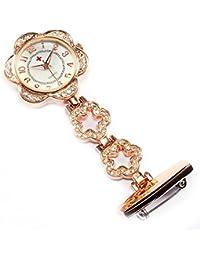 94e37a8bedde Pingxia Reloj para Enfermeras Colgante de Enfermera Prendedor Broche Cuarzo  Clip Prendedor de Broche de Túnica
