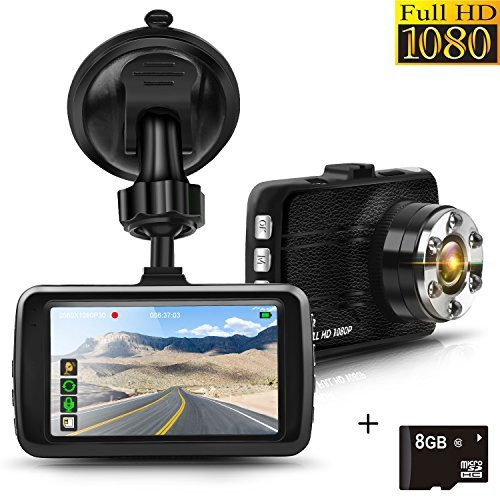 080P Dashcam Auto kamera Video Recorder 3.0
