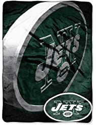 "New York Jets NFL Micro Raschel Blanket (Bevel Series) (80x60"")"""