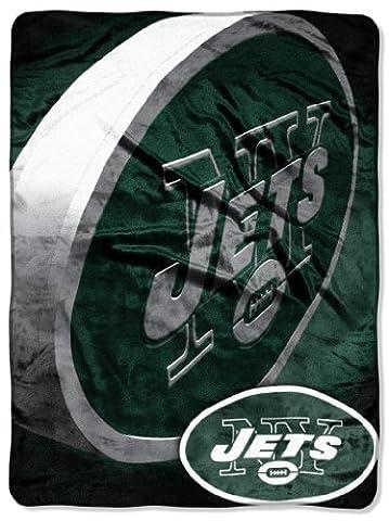 New York Jets NFL Micro Raschel Blanket (Bevel Series) (80x60