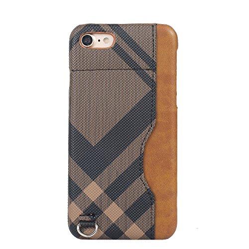 iPhone 8 Hülle, Valenth [Card Slot] Shockproof Impact Schützende Hard Back Hülle Cover für iPhone 7 iPhone 8 Braun