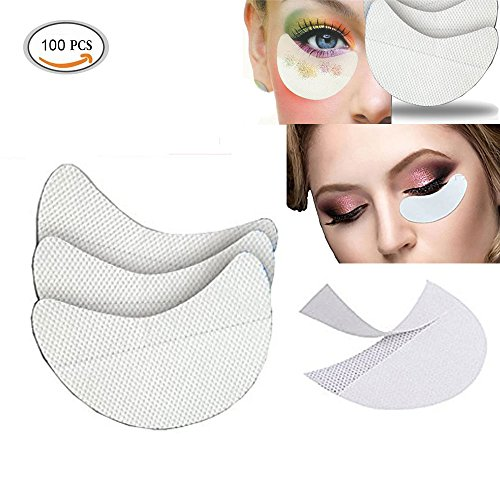100 Stücke Lidschatten Shields Professionelle vlies Tuch Unter Augen Lidschatten Gel Pad Patches Für Wimpernverlängerung Lippen Make-Up Schild (100 zählen) (Zählen Make-up)
