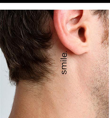 Lfvguiop autoadesivo del tatuaggio temporaneo impermeabile harajuku lettera smile design acqua trasferimento tattoo sticker uomini moda tatuaggio finto pcs 4