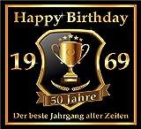 RAHMENLOS 3 St. Aufkleber zum 50. Geburtstag: 1969 der Beste Jahrgang Aller Zeiten - Selbstklebendes Flaschen-Etikett. Original Design