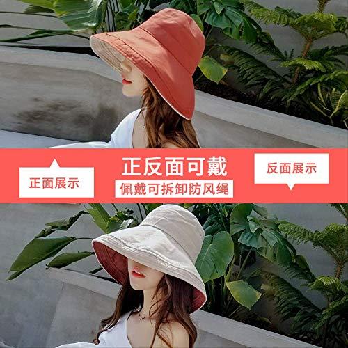 msdbs6 Fischer Hat Hat Outdoor-Sonnenschutz Hut Deckfläche Aufgewölbtes Doppelseitiges Fischerhut L (58-60cm) Doppelseitiger Kok-Zucker