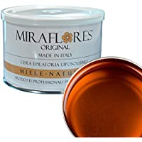Cera depilatoria profesional alle diferentes fragancias, ceretta liposolubile de tarro de 400 ml - Miraflores