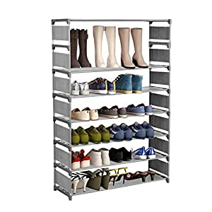 edited 8 schichten stabil schuhablage gro e kapazit t f r 32 paar schuhe schuhregal mit. Black Bedroom Furniture Sets. Home Design Ideas