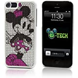 Disney D-tech Minnie Mouse Bling Rhinestone Iphone 5 Clip Case Cover & Screen Guard Theme Parks Exclusive & Limited Availability