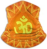 Spiritual Om On Mandala Illustrations Clip Art Unisex Winter Fleece Neck Warmer Gaiters Hairband Cold Weather Tube Face Mask Thermal Neck Scarf Outdoor Uv Protection Party Cover