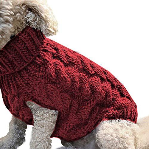 Media SUMTTER Maglione Magliette Cani Piccola Taglia Pullover Cane Inverno Vestiti Caldi Cucciolo Giacca Cane Neve Cappotti Costumi per Cane//Gatto Taglia Piccola