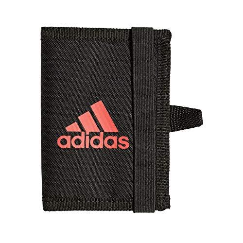 adidas Erwachsene Manchester United Geldbeutel, Black/Core Pink, One Size (Man Hat Utd)