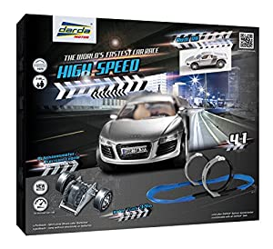 Darda High Speed Pista para vehículos de Juguete - Pistas para vehículos de Juguete, Negro, Azul, Gris, 5 año(s), Niño/niña, 99 año(s), Interior