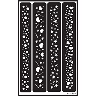 Armour Products Plastic Over 'N' Over Reusable Stencils 5-inch x 8-inchSparkle Borders