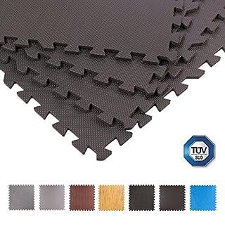 BodenMax Schutzmatten 60 x 60 cm,Puzzlematte Sportmatte Unterlegmatte Gymnastikmatte Fitnessmatten Bodenschutz Mattenstärke: 10-25 mm
