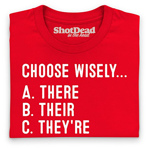 Choose Wisely T-Shirt, Damen Rot