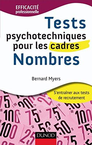 En ligne téléchargement Tests psychotechniques pour les cadres : Nombres (Efficacité professionnelle) pdf
