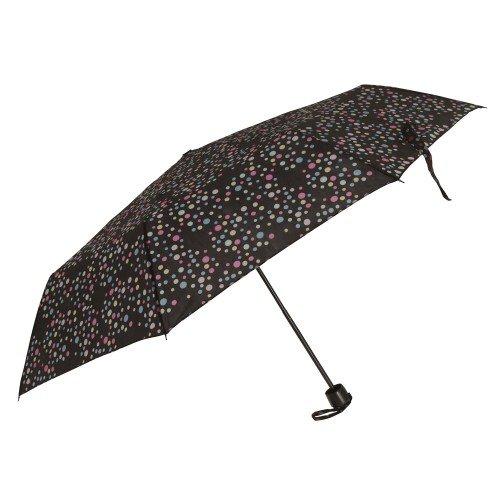 Severyn Paraguas compacto resistente al viento con estampado de lunares para mujer (Talla Única/Lunares)