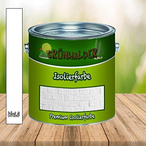 Grünwalder Wandfarbe in WEISS Isolierfarbe Nikotinsperre ANTI SCHIMMEL (10 L)