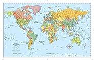 Signature World Wall Map (Folded)