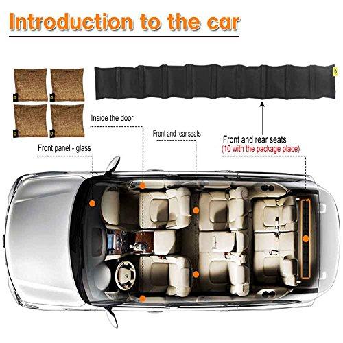 Bambus Aktivkohle Deodorant mit Kokosnussschale für Autos Haus Badezimmer Schlafzimmer Schrank und Schuhe