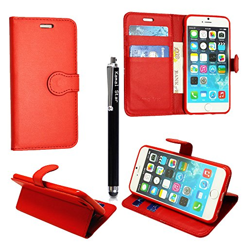 STYLE YOUR MOBILE LIMITED GSDSTYLEYOURMOBILE {TM} APPLE IPOD TOUCH 4 4TH GEN PRINTED PU LEATHER FLIP CASE COVER STYLUS (Red Book)