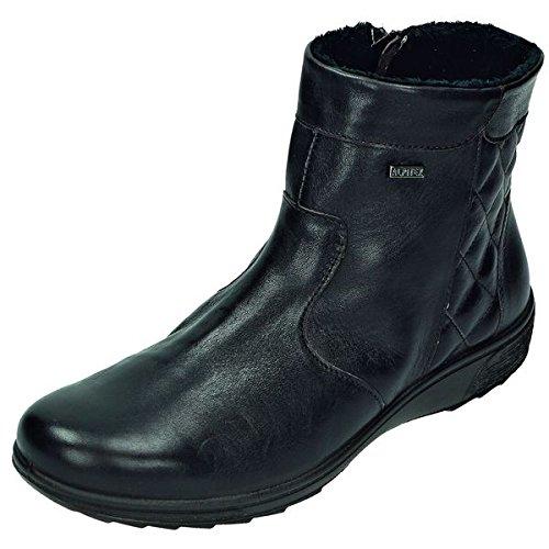 Pelle anilina Boot DocComfort stivali da Donna /, RV, interno felpato, Alpi Tex, ca, 12 cm, Marrone (t.d.moro Weite H), 39 EU